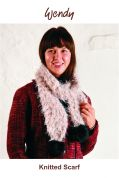Wendy Knitting Kit Beige Cosy Furry Scarf