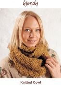 Wendy Knitting Kit Mustard Cosy Knitted Cowl