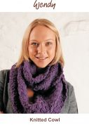 Wendy Knitting Kit Purple Cosy Knitted Cowl