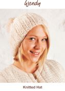 Wendy Knitting Kit Cream Cosy Knitted Hat