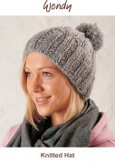 Wendy Knitting Kit Grey Cosy Knitted Hat