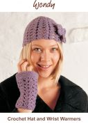 Wendy Crochet Kit Hat & Wrist Warmers