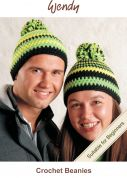 Wendy Crochet Kit Green Beanie Hats