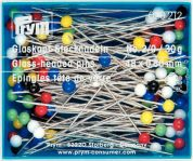 Prym Straight Glass Headed Pins 48mm  Silver