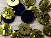 Crendon Round Floral Print Shell Buttons