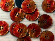 Crendon Round Floral Detail Print Shell Buttons
