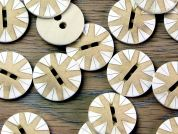 Crendon Round Geometric Design Buttons