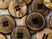 Crendon Round 4 Hole Rimmed Wood Buttons