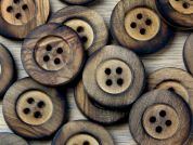Crendon Round 4 Hole Rimmed Chunky Wood Buttons