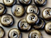 Crendon Round 2 Hole Swirl Wood Effect Buttons