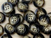 Crendon Round 4 Hole Swirl Wood Effect Buttons