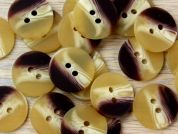 Crendon Round 2 Hole Wood Effect Buttons