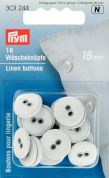 Prym Round Fabric Covered 2 Hole Linen Buttons