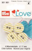Prym Love Fabric Covered Round 2 Hole Buttons  Yellow