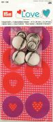 Prym Love Heart Print Button Fabric & Metal Cover Buttons