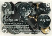 Prym Rustproof Bachelor Buttons  Black