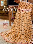 Annie's Attic Knitted Ripple Afghans Knitting Craft Book