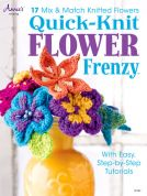 Annie's Attic Quick Knit Flower Frenzy Knitting Craft Book