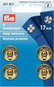 Prym Large Sew On Metal Snap Fasteners