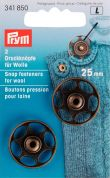 Prym Sew On Metal Snap Fasteners for Wool & Knits