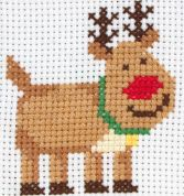 Anchor 1st Cross Stitch Kit For Children & Beginners Rudolph