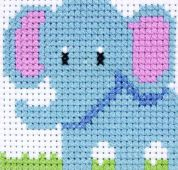 Anchor 1st Cross Stitch Kit For Children & Beginners Elephant