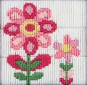 Anchor 1st Long Stitch Kit For Children & Beginners Flowers