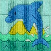 Anchor 1st Long Stitch Kit For Children & Beginners Dolphin
