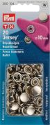 Prym Non Sew Jersey Cap Press Fasteners Refill Pack  Silver
