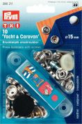 Prym Non Sew Press Fasteners For Yacht & Caravan  Silver