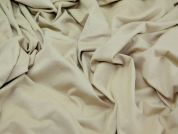 Plain Stretch Jersey Dress Fabric  Beige Tan