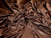 Shimmer Knitted Polyester Dress Fabric  Dark Brown