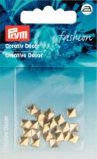 Prym Iron On Square Metal Studs  Gold