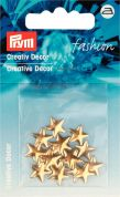 Prym Iron On Star Metal Studs  Gold