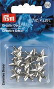 Prym Press On Star Metal Studs  Silver