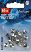Prym Press On Square Metal Studs  Silver