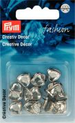 Prym Press On Heart Metal Studs  Silver