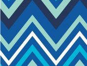 Camelot Fabrics Singin' the Blues Chevron Poplin Quilting Fabric