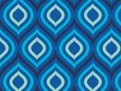 Camelot Fabrics Singin the Blues Ogee Poplin Quilting Fabric