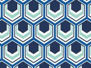 Camelot Fabrics Singin the Blues Hexagons Poplin Quilting Fabric