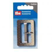 Prym Rectangle Belt Buckles  Beige & Brown