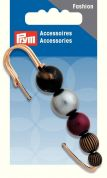 Prym Shawl Pin Fastener  Black, Silver & Red