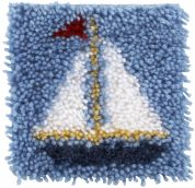 Caron WonderArt Latch Hook Rug Kit Sailboat