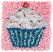 Caron WonderArt Latch Hook Rug Kit Cupcake