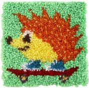 Caron WonderArt Latch Hook Rug Kit Hedgehog