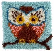 Caron WonderArt Latch Hook Rug Kit Hoot Hoot