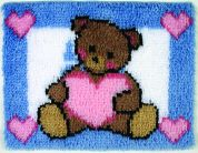 Caron WonderArt Latch Hook Rug Kit Heart Bear