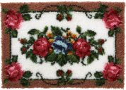Caron WonderArt Latch Hook Rug Kit Elegant Roses