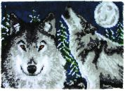Caron WonderArt Latch Hook Rug Kit Midnight Wolves