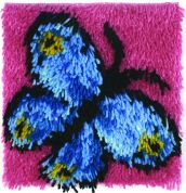 Caron WonderArt Latch Hook Rug Kit Butterfly